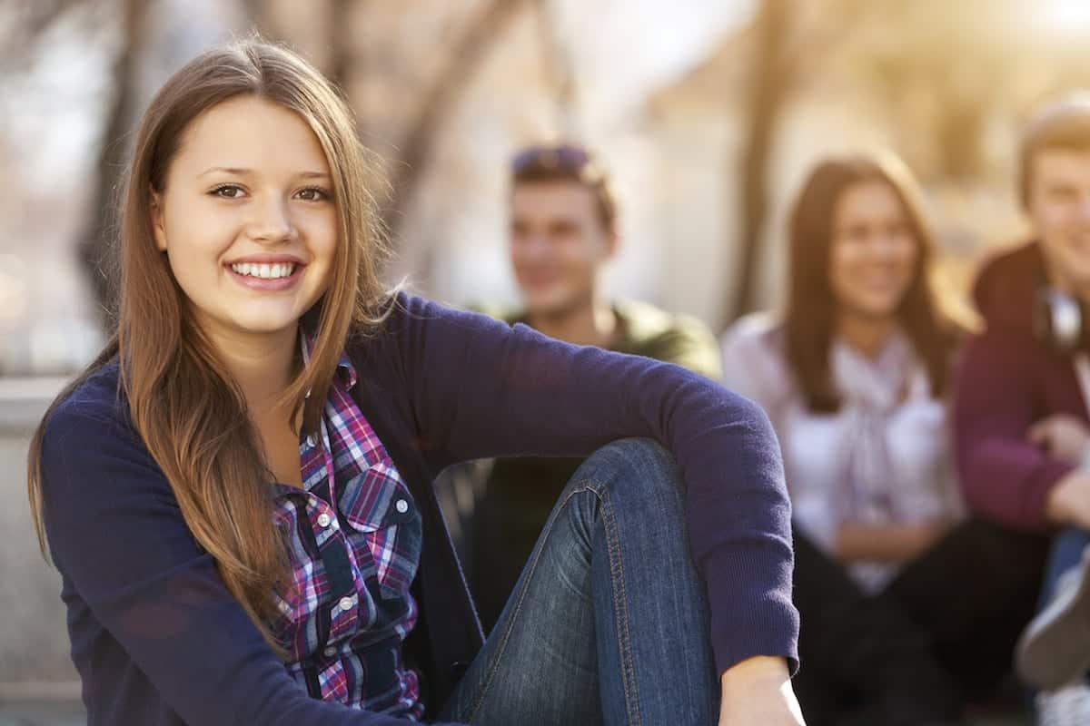 millennials smiling