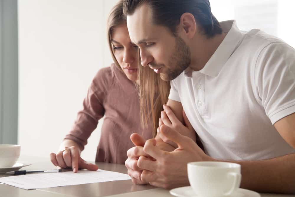 couple looking at personal loans