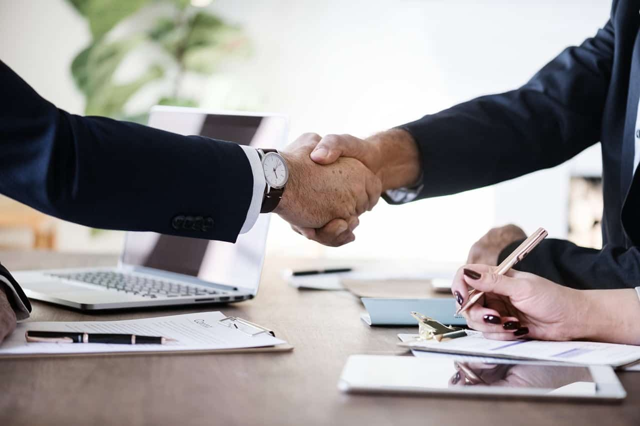 hand shake after business deal